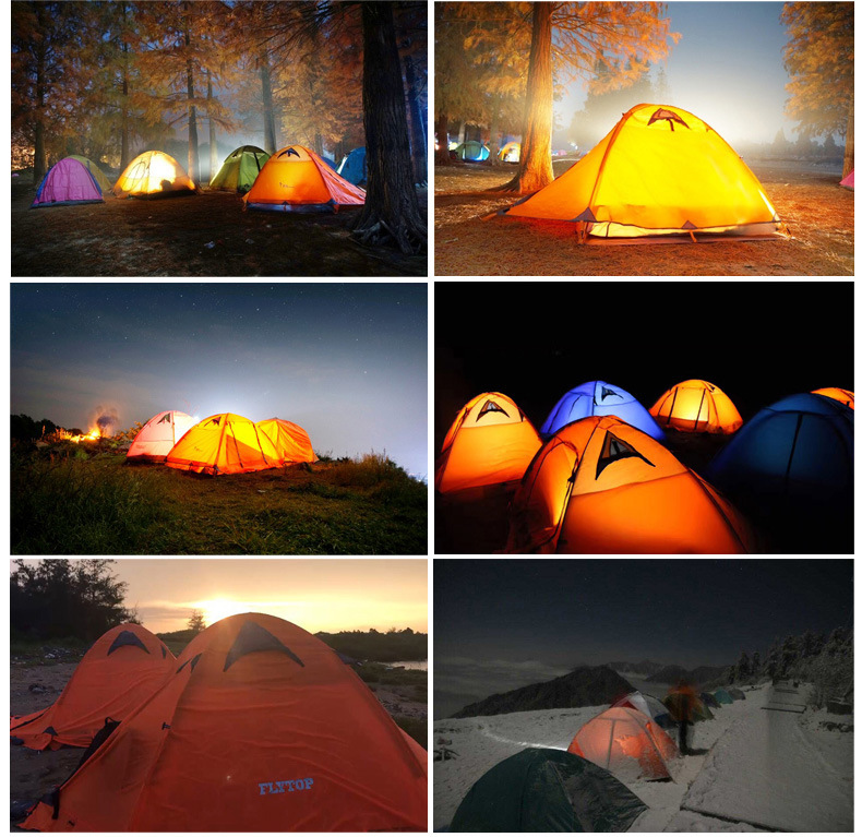 FLYTOP Outdoor Camping Tent For Rest Travel 2 Persons 3 Double Layer Windproof Waterproof Winter Professional Camp Tourist Tent (15)
