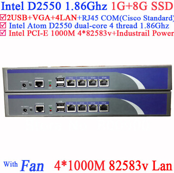 Network Servers With Intel D2550 1.86Ghz 1G RAM 8G SSD Support ROS RouterOS Mikrotik PFSense Panabit Wayos