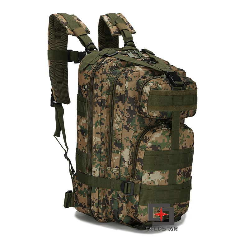 Woodland Digital Camo 3P Tactical Backpack Double Shoulder Mountaineering  Assault Backpack Military Combat Army Backpack-in Climbing Bags from Sports  ... 56bd15ad5