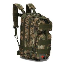 Woodland Digital Camo 3P Tactical Backpack Double Shoulder Mountaineering Assault Military Combat Army