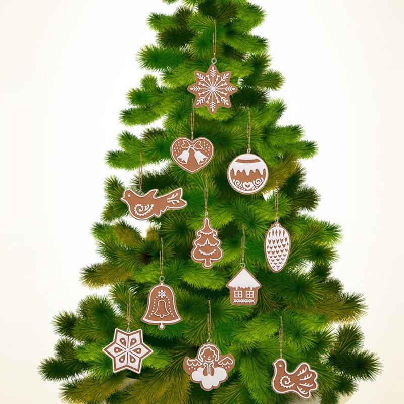 unids animal del copo de nieve de navidad galletas arcilla polimrica hechos a mano adornos para rboles de navidad para la navidad partido nvie en de en
