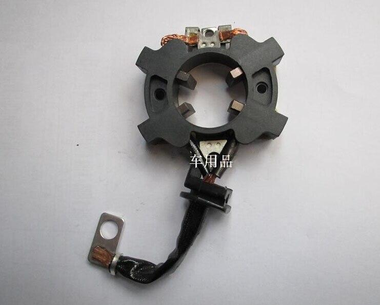 Soporte de cepillos de carbono de arranque eléctrico para Motor de arranque Mitsubishi Ford Mondeo Focus Mazda M6 (tamaño: 53*39mm)