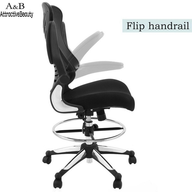 High Quality Lift Chair Ergonomic Adjule Computer Chairs Drafting Reception Office Stool With Armrests