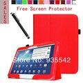 Ультратонкий фолио тонкий искусственная кожа стенд чехол обложка книги для Samsung Galaxy Tab 3 10.1 дюймов планшет P5200 P5210 ( красный )