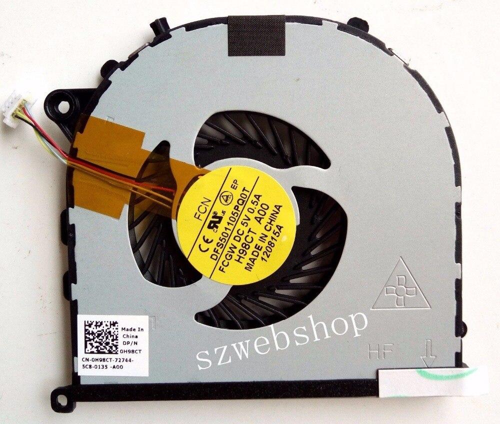 New GPU Fan For Dell XPS 15 9530 Precision M3800 Right 0H98CT DFS501105PQ0T FCGW