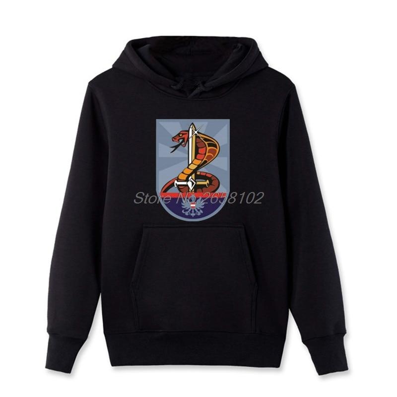 Hot Sale Men Cotton Fashion Hoodies Einsatzkommando Cobra Black Sweatshirt Cool Coat Harajuku Streetwear Fitness