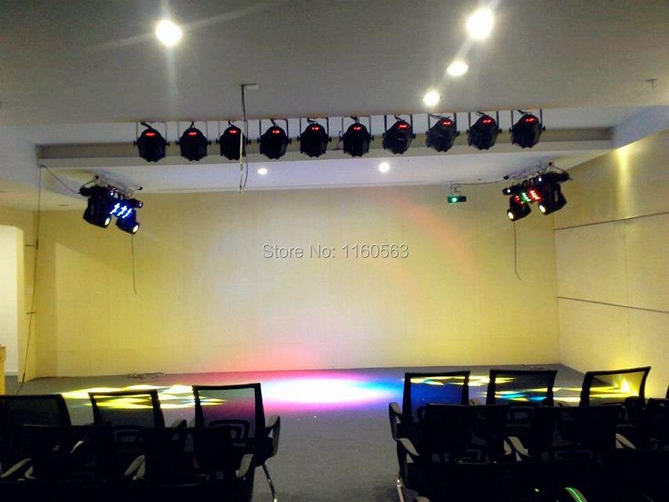 200W LEVOU cob par luzes 2x100W 6in1