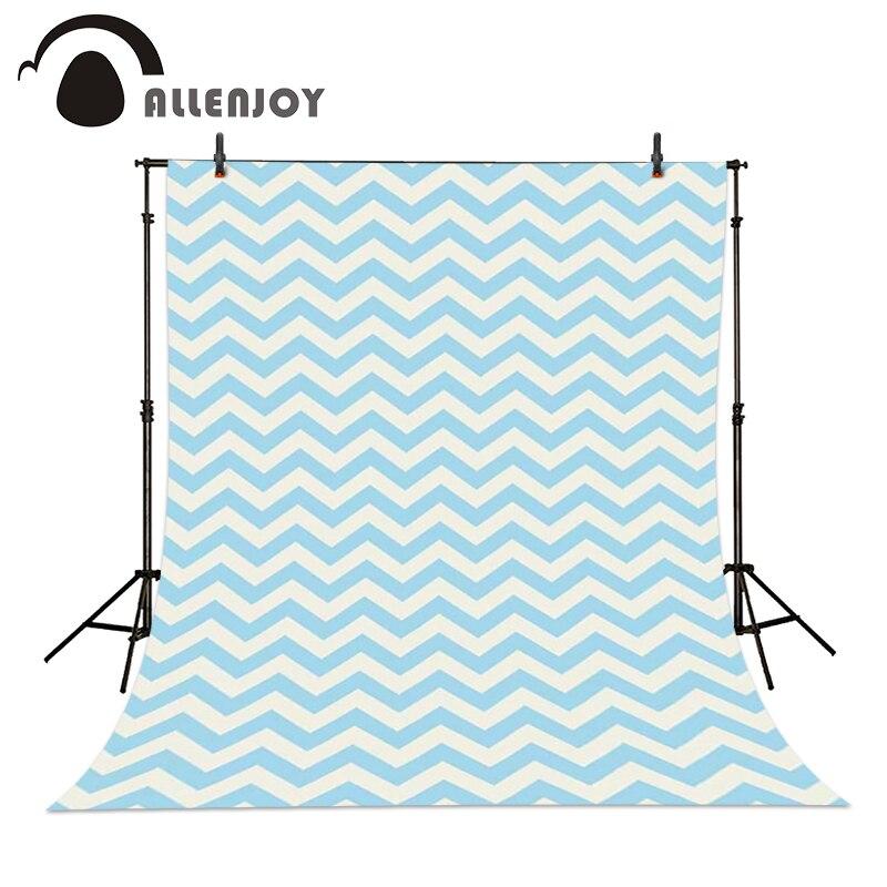 Allenjoy Photography background cute white blue striped twill princess boy photo studio backdrops