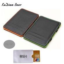 KUDIAN BEAR Minimalist Men Wallet Rfid Slim Wallet Card Orga