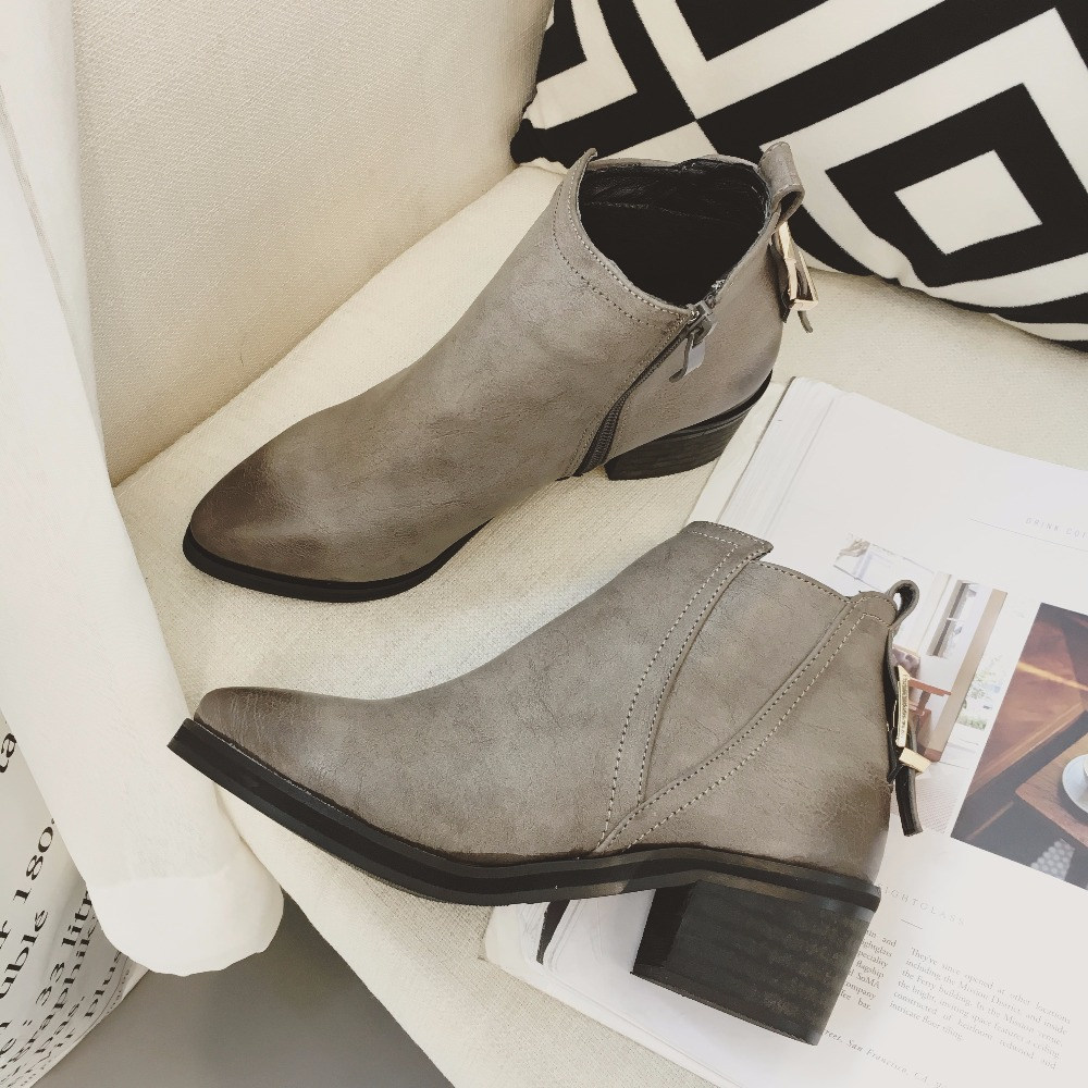 2016 Women s Winter Chelsea Boots fashion thigh high boots Genuine leather zip Warm Ankle boots