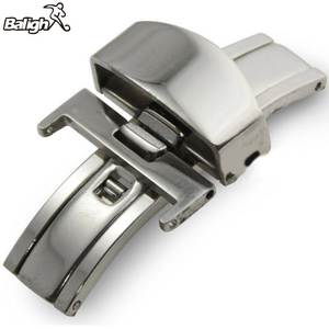 Push-Button Strap Watch-Band Deployment Clasp Butterfly Stainless-Steel for 16/18/20mm