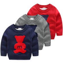 Winter Autumn Pullover Baby Sweater Boy Child Knitted Bear Print Sweater Casual Children Carton Sweaters Outwear Big Size MY30