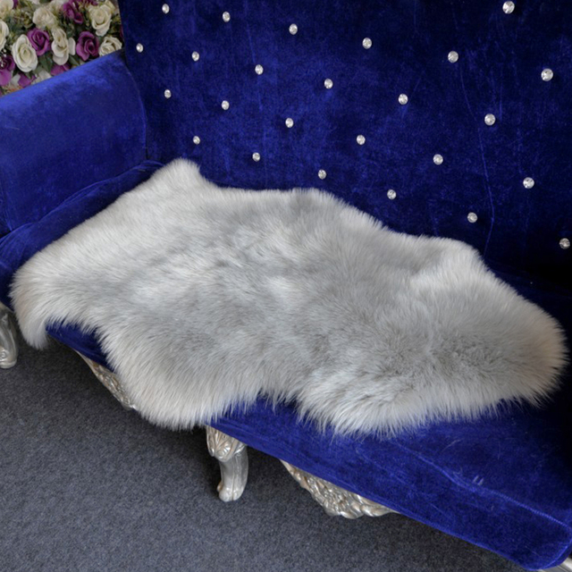 Long Faux Fur High Density Artificial Sheepskin Fluffy Chair Seat Sofa Cover Carpet Mat Area Rug