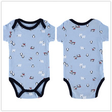 Autumn 1 Piece Cotton Style Baby Girl Boy Winter Clothes Penguin and Dogs New Born Body Baby Ropa Character Baby Bodysuit r024