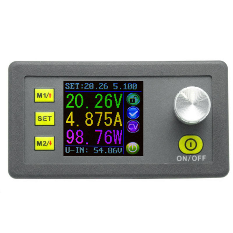 Digital Constant Voltage Current Step-down Programmable Power Supply Module Buck Voltage Converter Color LCD Voltmeter 50V 5A [randomtext category=