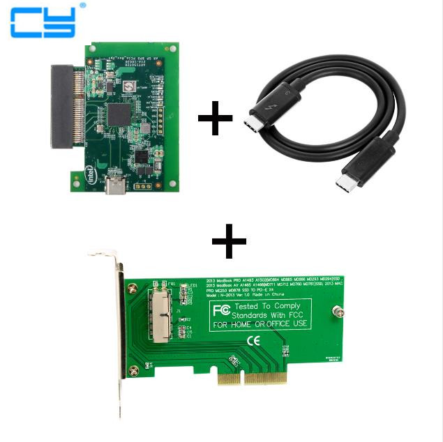Thunderbolt 3 to PCI Express PCI E to 2013 2015 Apple Laptop Pro Air SSD Convert Card Cable Support Windows 10 or later