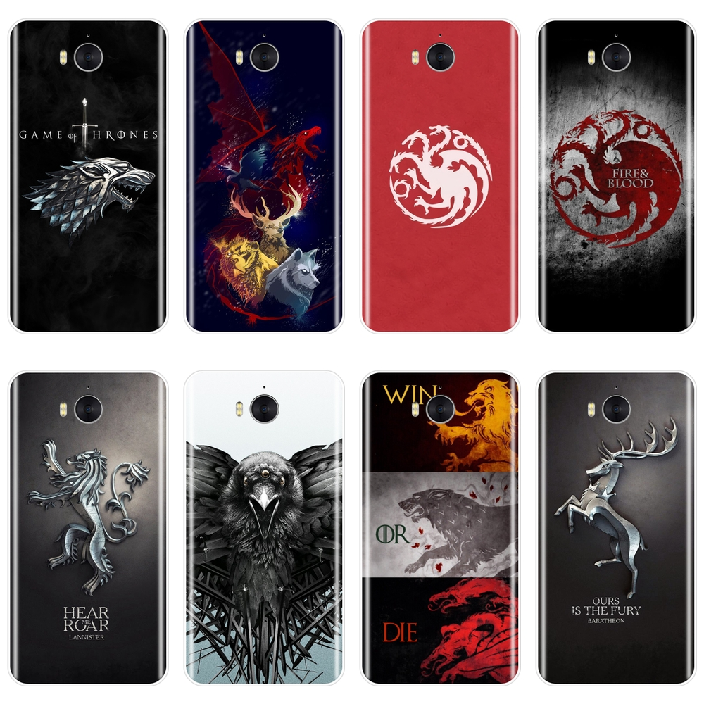 For Huawei Y5 Y6 Y7 Prime 2017 2018 Y9 2019 Case Men Silicone Game of Thrones Soft Back Cover For Huawei Y3 Y5 Y6 II Y7 Pro Case image