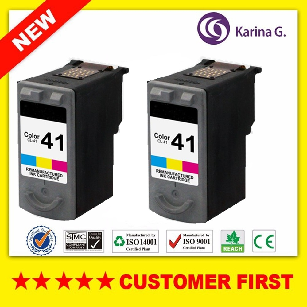 2PCS Re-Manufactued for CL41  Ink Cartridges For Canon CL-41 PG41 Color Inkjet Printer Cartridge sportz