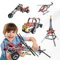 5 em 1 Plastic Model Building Kits 3D Carros Aviões DIY Iluminai Crianças Educação Assemblage Blocos Tijolos Brinquedos Para As Crianças Kid