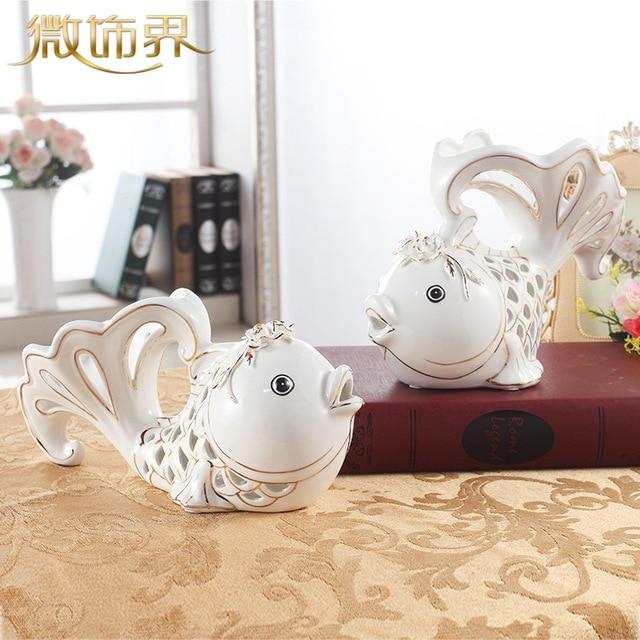 Muebles accesorios de TV gabinete adornos fish chino sala de bodas ...