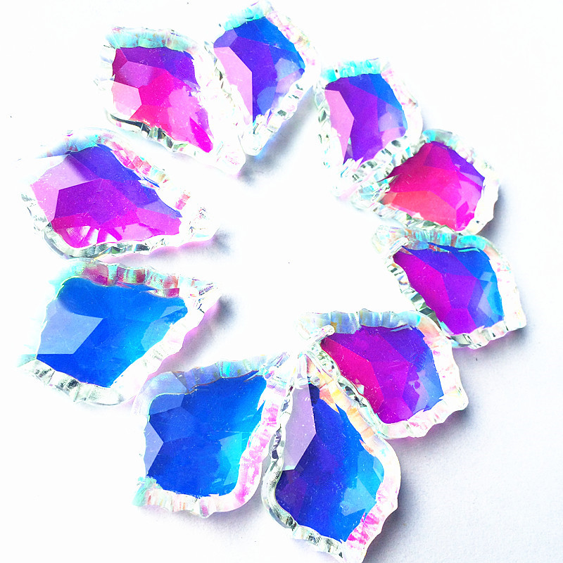 New Arrived!! 380PCS/Lot  38MM K9 AAA Rainbow color Crystal pendant Prism/  crystal hanging home decoration Free Shipping!-in Pendant & Drop Ornaments from Home & Garden    1