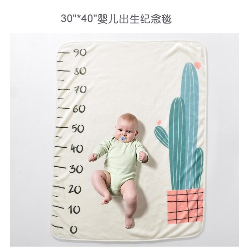 Kids Baby Blanket Swaddle Soft Flannel Bathing Towels Flower Numbers Printed Wrap DIY Baby Newborn Photography Blankets 70*100CM