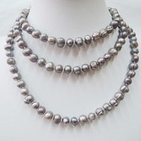 100 NATURE FRESH WATER PEARL LONG NECKLACE