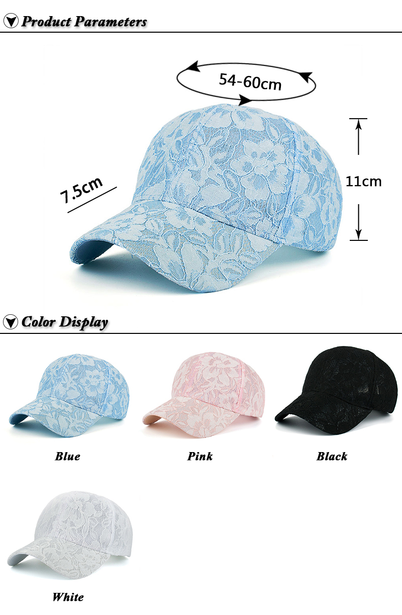 Floral Lace Over Denim Snapback Cap - Product Parameters and Available Colors