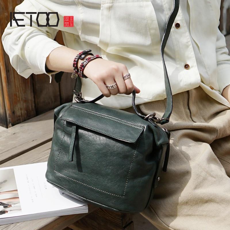 AETOO Leather fashion art retro crossbody bag, lady shoulder handbag, handmade cowhide dumpling bagAETOO Leather fashion art retro crossbody bag, lady shoulder handbag, handmade cowhide dumpling bag