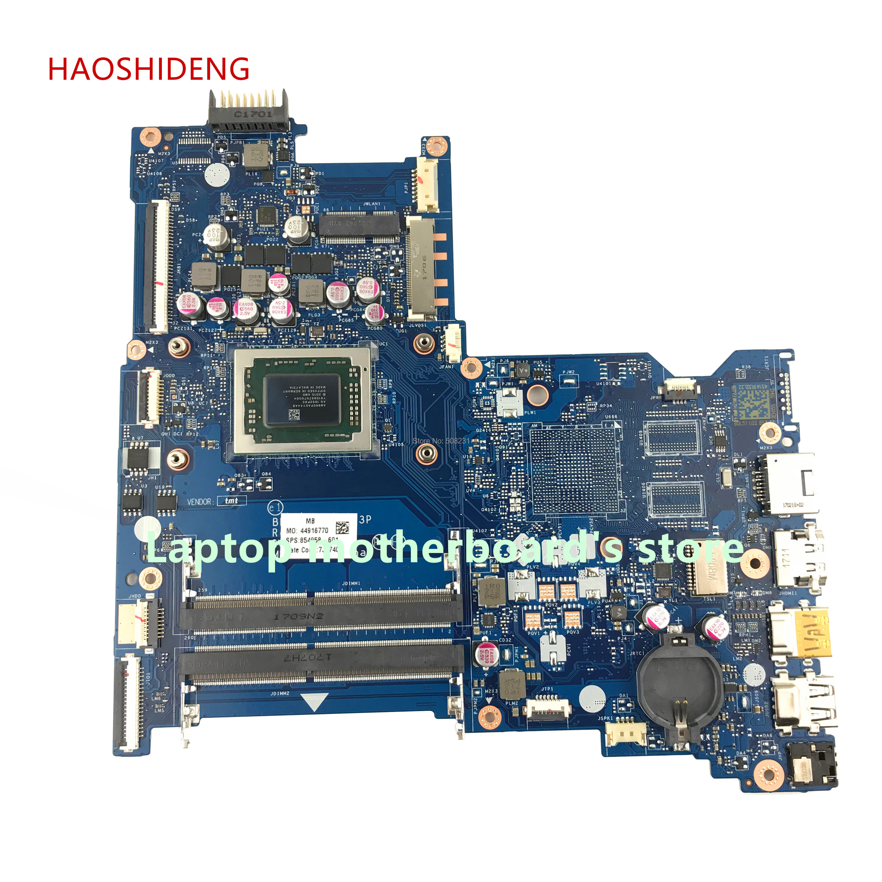 цена на HAOSHIDENG 854958-601 for HP NOTEBOOK 15-BA 15Z-BA 15-BA113CL motherboard 854958-501 BDL51 LA-D713P with A10-9600P fully Tested