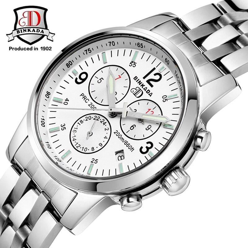 2017 BINKADA Brand Watch Men Mechanical Watch Men Fashion Watch Full Steel Waterproof 50m Sports Automatic Wristwatch For Men
