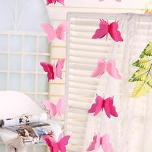 Colorful Paper Garland Wedding Butterfly Hanging Birthday Party Banner 3D Decor Shopping Mall Shopwindow Decoration #06
