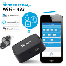 Sonoff RF Bridge 433 Convert 433MHz RF Remote to App via WiFi Smart Home Security Automation Module Wireless Switch Timer