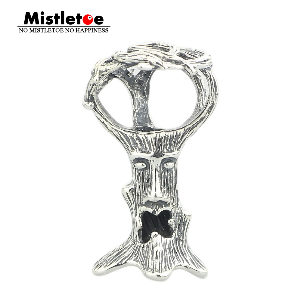 Genuine 925 Sterling Silver Troll Tree Pendant Dangle Charm Fits European Toll 3.0mm Bracelet & Necklace Jewelry iwona 24 дюймов