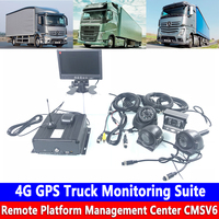 PAL/NTSC AHD720P hd pixel hard disk 4G GPS Truck Monitoring Suite remote cloud video monitor and watch docking OBD tire pressure
