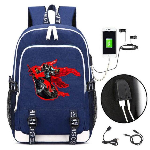 Аниме рюкзак Persona 5 USB зарядка и кабель бесплатно 4