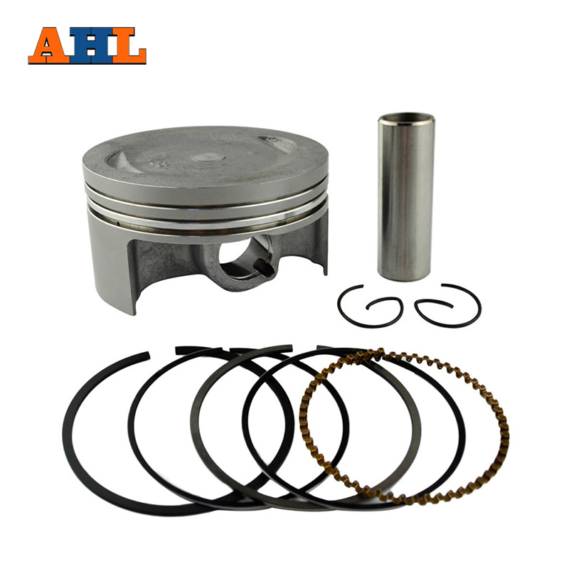 AHL Motorcycle STD +25 +50 +100 74mm~75mm Piston & Piston Ring Kit For Yamaha YBR250 2005-2013 XT250 Serow 2005-2015