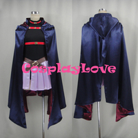 New Custom Made Japanese Anime Magical Girl Lyrical Nanoha Fate Testarossa Fitter Cosplay Costume For Halloween
