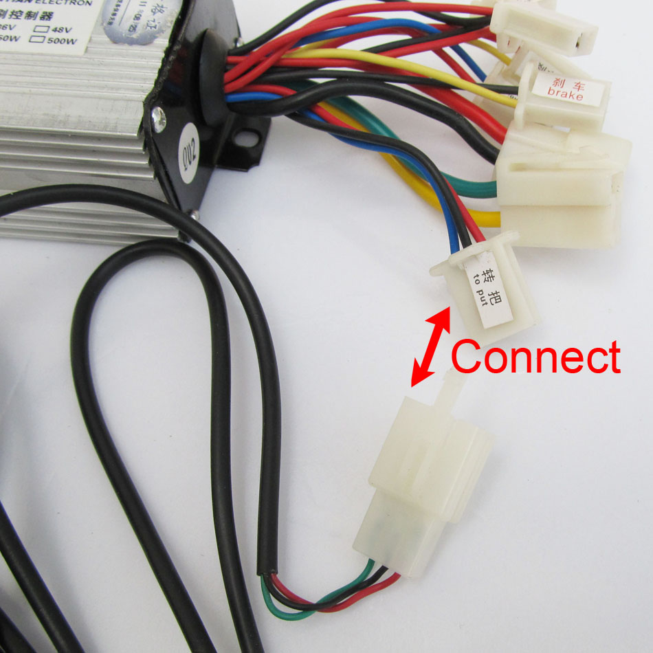 Wiring A Electric Bike Controller 36v Diagram Library Motorcycle Dc 800w Brush Motor Speed With Handle For Bicycle