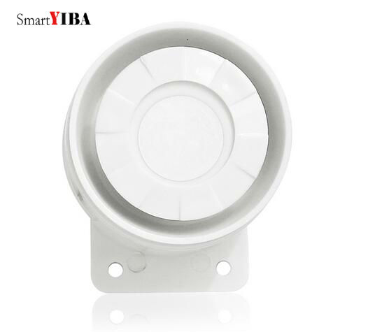 SmartYIBA 20pcs/lot Alarm Siren Wired Mini Horn White Siren For WIFI GSM Home Alarm Panel Loud Indoor Horn
