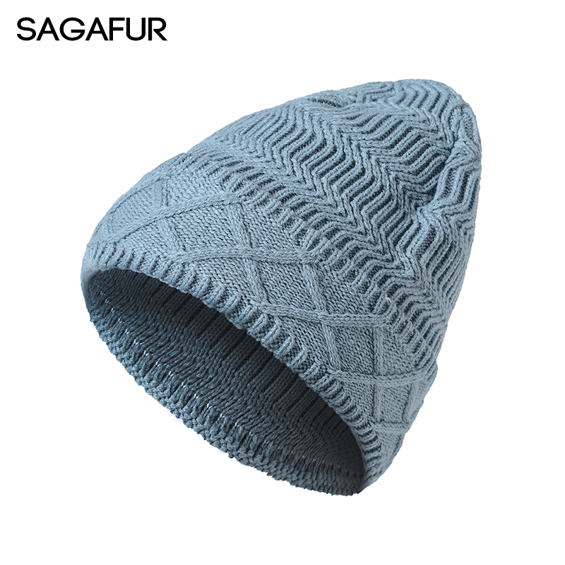 SAGAFUR Men Women Caps Knitted Hat Female Unisex Knitted New 2017 Autumn Winter Fashion  Women'S Hats Skullies Beanies  #CAP018 fine three dimensional five star embroidery hat for women girls men boys knitted hats female autumn winter beanies skullies caps