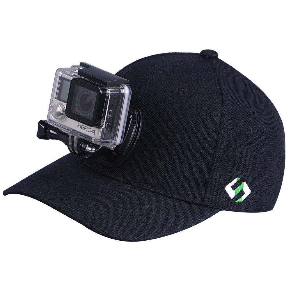 Adjustable Canvas Sun Hat Cap with Camera Mount Screw for Gopro Hero 5 4 3+ SJ4000 SJ5000 SJ6000 xiaomi yi 4k Eken H9 H9R H8