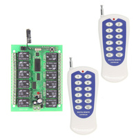 DC12V 12 CH 12CH Radio Controller RF Wireless Remote Control Switch System 2 X Transmitters And