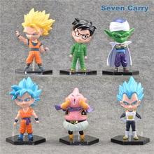 Dragon Ball z –  6pcs/lot Majin Buu Saiyan Son Goku Action Figures