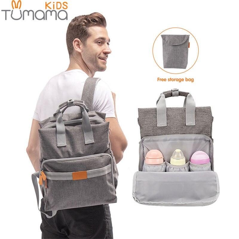 Tumama Baby Windel Tasche Mumie Mutterschaft Windel Tasche Große Kapazität Reise Rucksack Desinger Pflege Tasche mit Flasche Isolierung Taschen