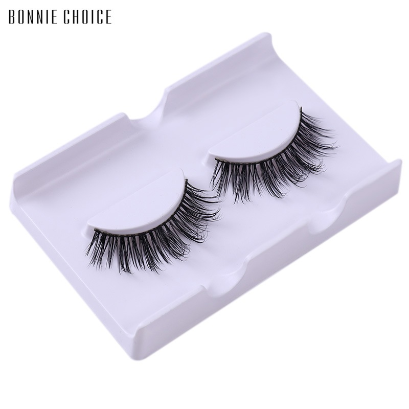BONNIE CHOICE Mink Perfect Handmade False Eyelash Long Hair Trail Natural Fake Eye Lashes Professional Makeup Tips ...