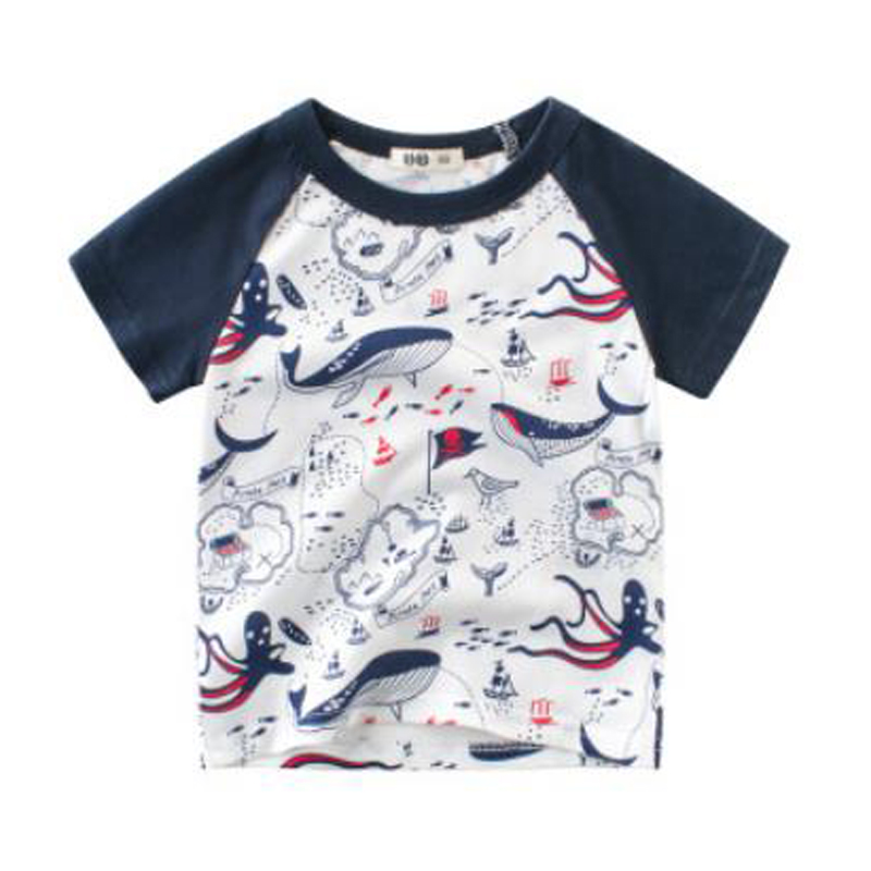 88956d330989 Kids tshirt animal print Cotton 2019 Summer toddler boy shirt shark Printed  Short Sleeve baby girl. sku: 32974573232