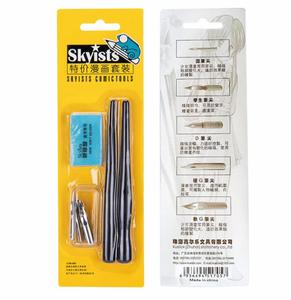 5 Nibs + 2 Pen Holders For Sharpie Calligraphy Manga Supply Drawing Tools Anime Multi School Art Supplier