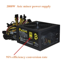 Asic Bitcoin Miner Ethereu Miners DASH ZCASH Power Supply 1800W Psu Connectors 12V For Miner R9