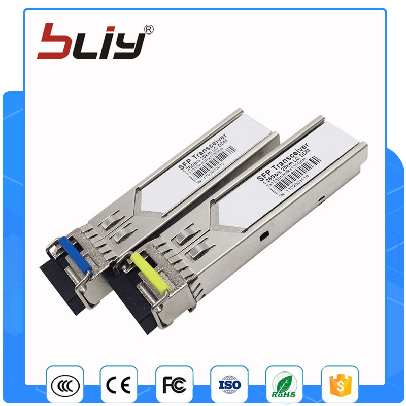 все цены на 5 pairs/pack single fiber 20km LC connector optical tranceiver hot pluggable sfp module for Cisco/HP/Mikrotik switch Compatible онлайн